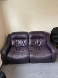 Two seater sofa ideal for flat