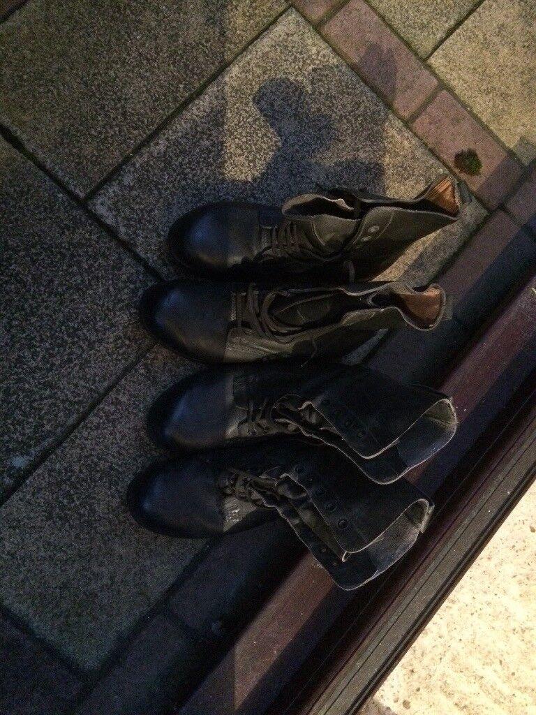 Army high leg combat boots