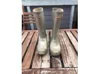 Silver Hunter Wellies size 1