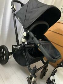 Bugaboo cameleon black with accessories