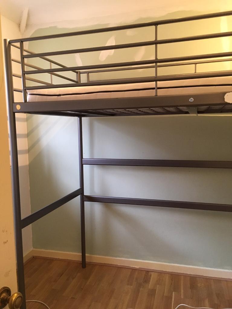 Ikea loft bed frame and mattress