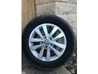"""16"""" VW Transporter 4 tyres and alloys. Hankook 15,000 miles 205/65R/16C"""