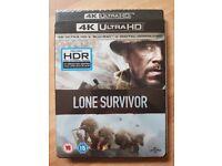 New & Sealed Lone Survivor 4K UHD Blu-ray + Blu-ray + Digital Download