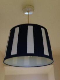 Stripped lampshades ..