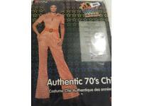 Smiffys adult 70s jumpsuit fancy dress