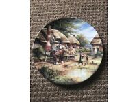 Wedgwood country days 'mending the thatch' plate