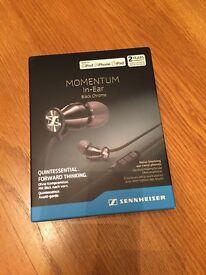 NEW Sennheiser MOMENTUM In-ear headphones. BLACK CHROME