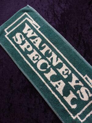 VINTAGE British PUB 1980s WATNEYS Special BEER Bar Towel RUNNER MAT FREE POST