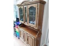 Wood Dresser with Internal Display Light
