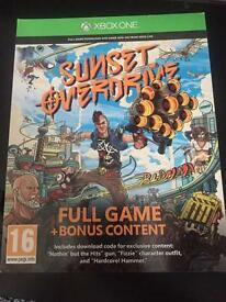 XBOX ONE GAME // SUNSET OVERDRIVE CODE