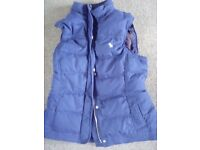 Abercrombie & fitch body warmer womans large
