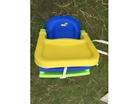 K&D Adjustable Booster Seat with Tray