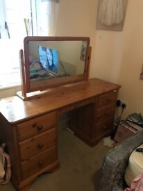 Large dressing table and wardrobe
