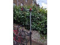 Folding bicycle repair stand. Ideal for home bike repairs.