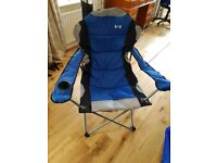 Padded camping chair (never used)-- GBP20
