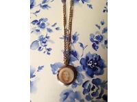 A Wonderful Antique 9ct Old Gold Heavy Figaro Chain With Large Double Sided Photo Locket