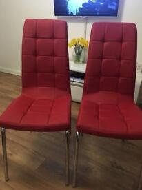 2 Brand new Red chairs