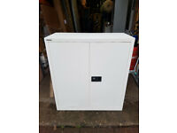 Bisley Regular 2 Door Cupboard Economy Chalk White 914 x 400 x 1,000 mm Office Storage