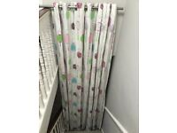 John Lewis children's blackout curtains (almost 9-foot drop) and curtain pole