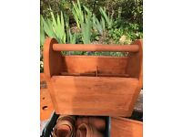 Great solid wood handmade garden tool carrying box. Ideal present. A one off original
