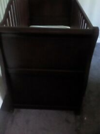 Mohogoany sleigh cot bed