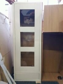 Brand new Schreiber 500mm, tall kitchen worktop dresser unit with glass door and drawer