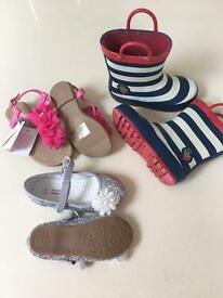 3 pairs of girls size 8 (EUR 25/26) shoes
