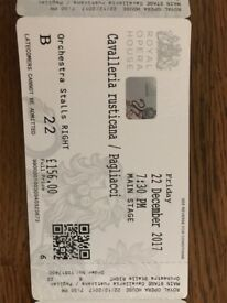 Opera tickets ROH - Cavalleria rusticana / Pagliacci 22nd Dec (2 tickets)