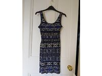 Black and blue tight dress small