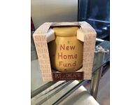 Pot of dreams, new home fund ceramic money box, new, boxed