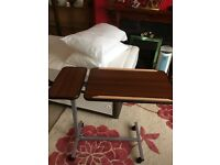 Bed table adjustable £25 ono same as hospital tables