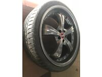 "Alloys *NO TEXTS* 19"" alloy wheels immaculate 5x100 Toyota VW golf Audi Subaru with tyres 235/35/19"