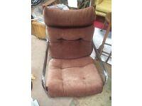 Retro original chrome armchair
