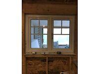 White PVC Double Glazed Window (H 105cm x W 120cm)