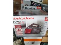 New in Box Morphy Richards Power Pressurised Steam Generator Iron