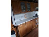 Used solid oak kitchen