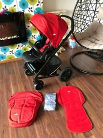 Joie Chrome Plus Red pushchair, stroller, buggy
