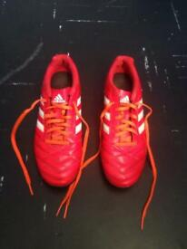 Size 9 Red Adidas AstroTurf Boots