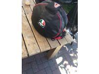 Black agv helmet