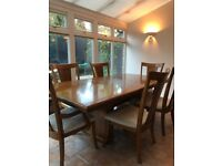 American Maple Wood Dining Table and Chairs