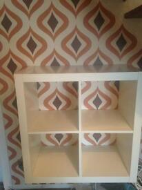 White Ikea shelving unit