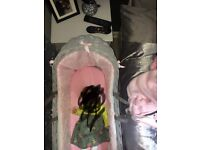 Claire De Lune Moses Basket and stand - soft pink! 💖