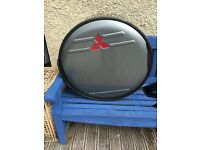 Stainless steel spare wheel cover for Mitsubishi shogun