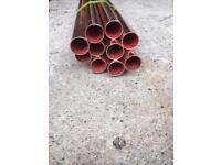 bundle of 22mm copper pipe