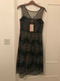 Black and Gold Lace Monsoon Dress