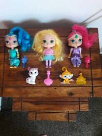 Shimmer and shine dolls