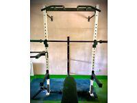 Squat rack, Gym Equipment, weights, barbell, custom made @ PowerSpec