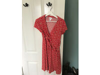 Elegant red maternity dress Motherhood (american make) size 10