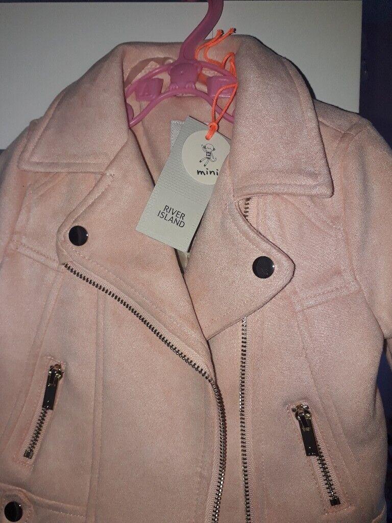 5fdba5d1c River island 3-6 months pink biker jacket