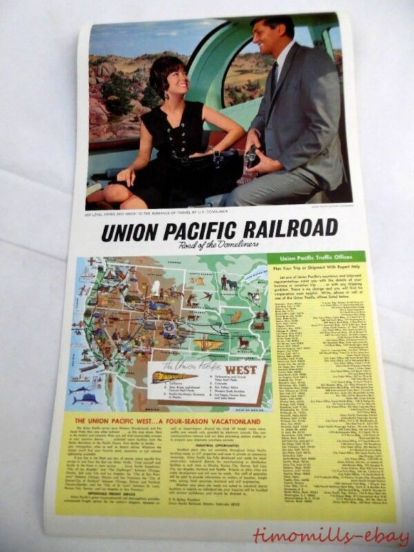 1968 Union Pacific Railroad Advertising Wall Calendar Domeliner Steamliner Era